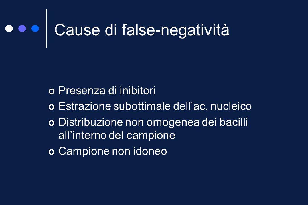 Cause di false-negatività
