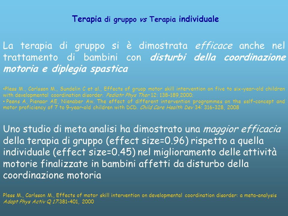 Terapia di gruppo vs Terapia individuale