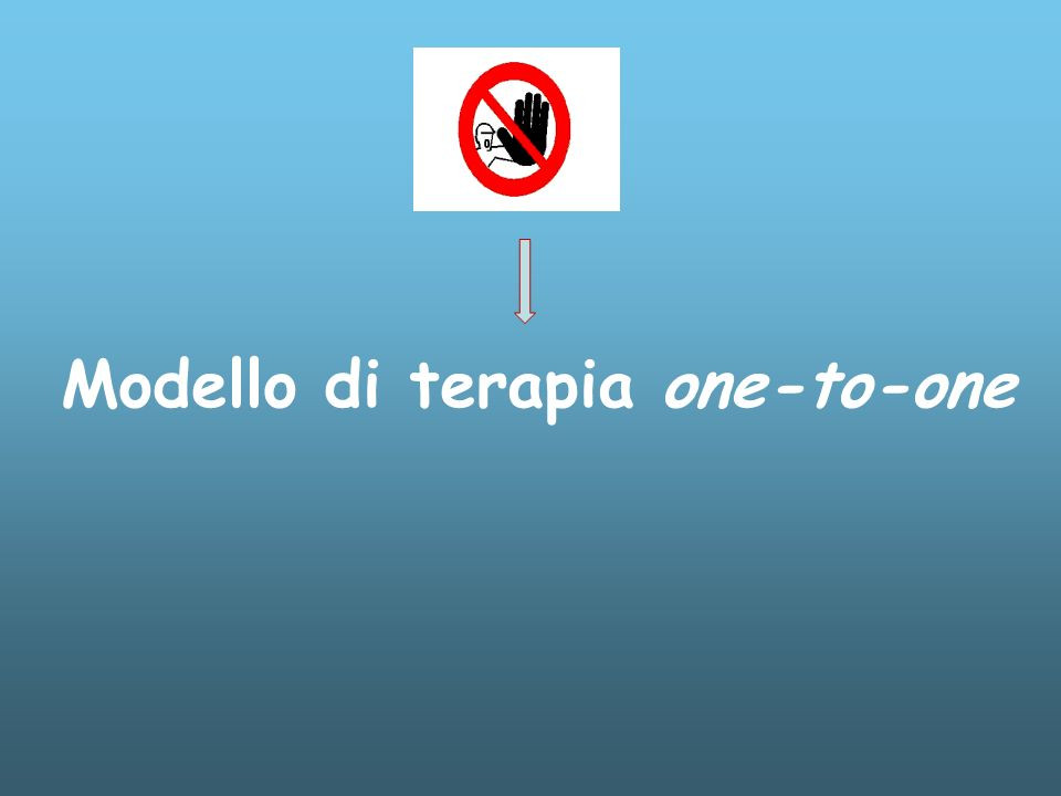 Modello di terapia one-to-one