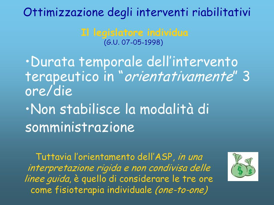 Ottimizzazione degli interventi riabilitativi