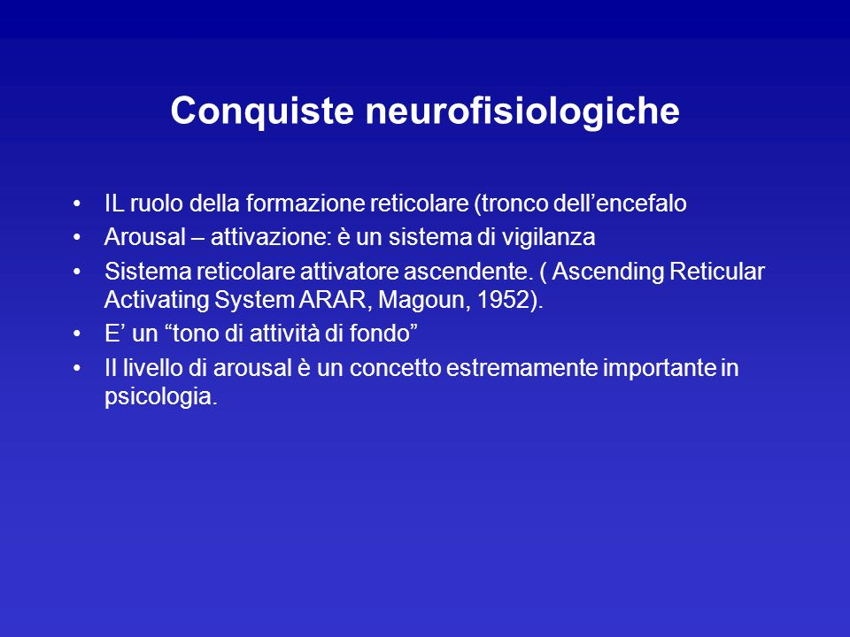Conquiste neurofisiologiche