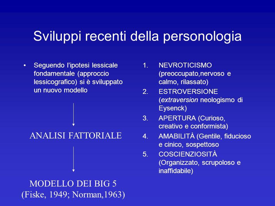 Sviluppi recenti della personologia