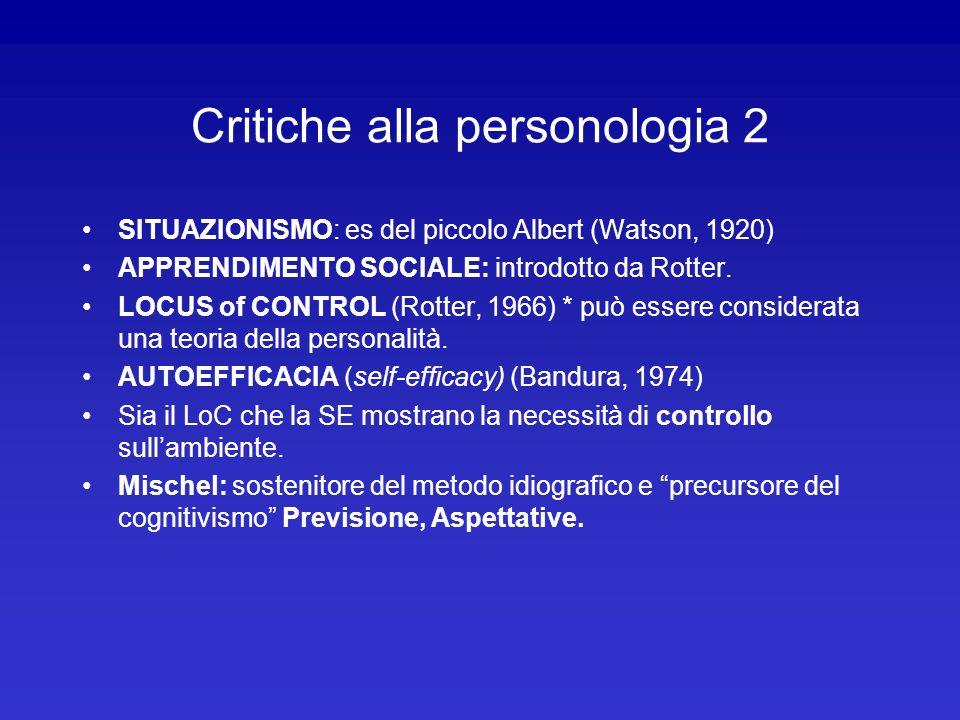 Critiche alla personologia 2