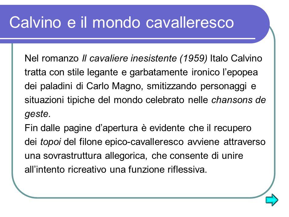 Calvino e il mondo cavalleresco