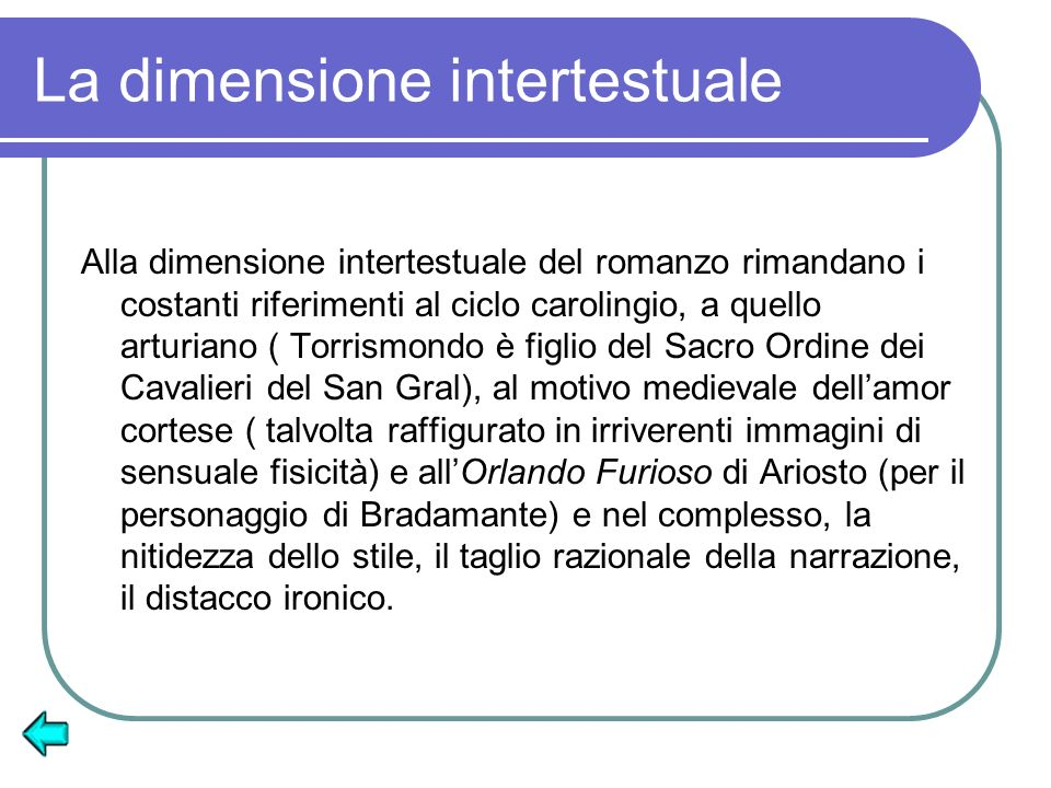 La dimensione intertestuale