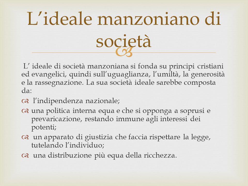 L'ideale manzoniano di società