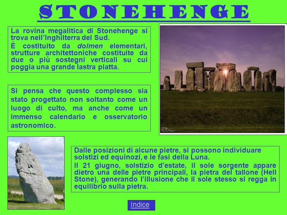 Stonehenge La rovina megalitica di Stonehenge si trova nell'Inghilterra del Sud.