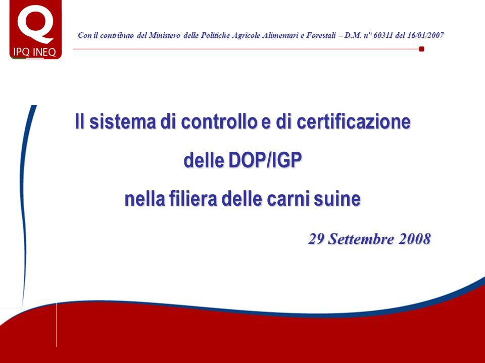 Il sistema di controllo e di certificazione delle DOP/IGP