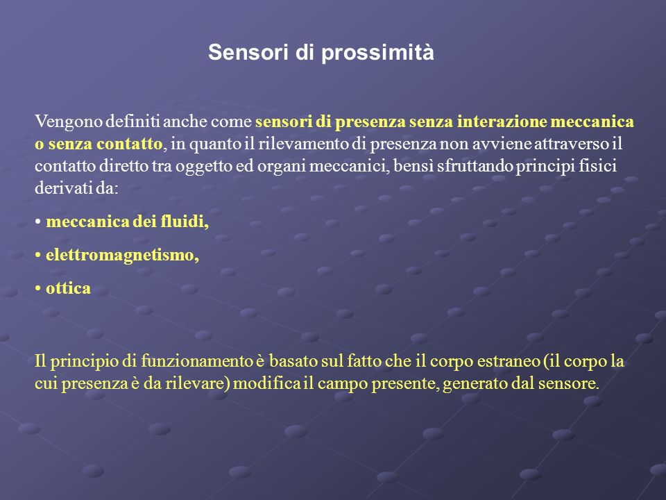 Sensori di prossimità