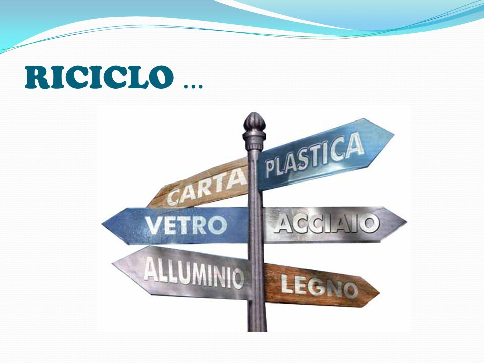 RICICLO …