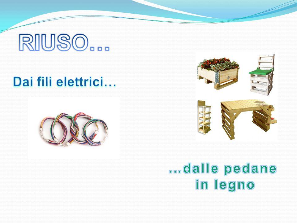 RIUSO… Dai fili elettrici… …dalle pedane in legno