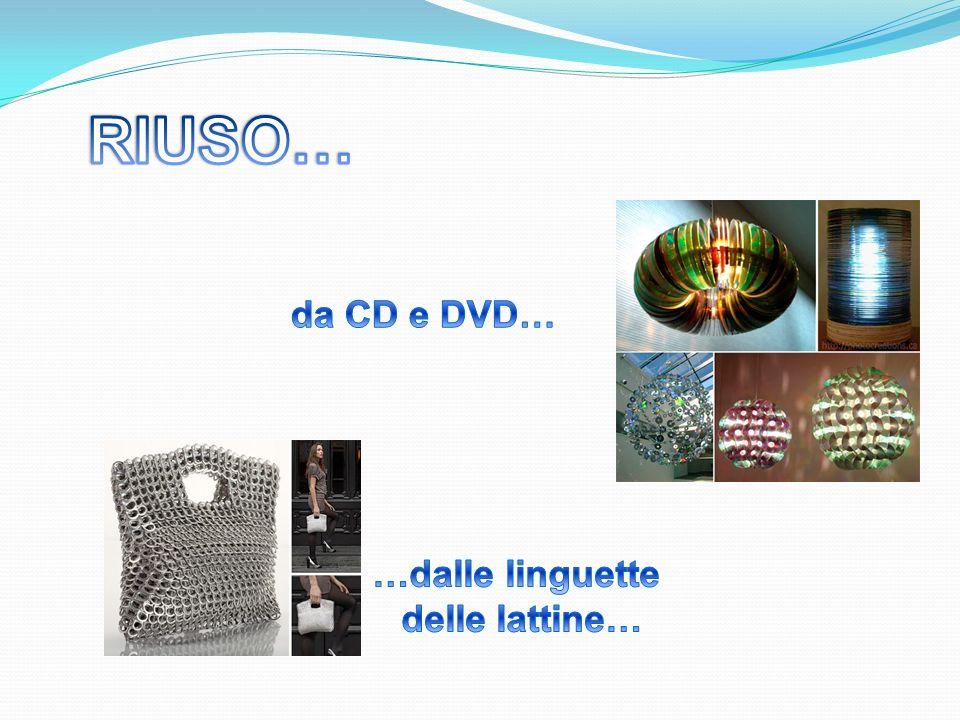 RIUSO… da CD e DVD… …dalle linguette delle lattine…