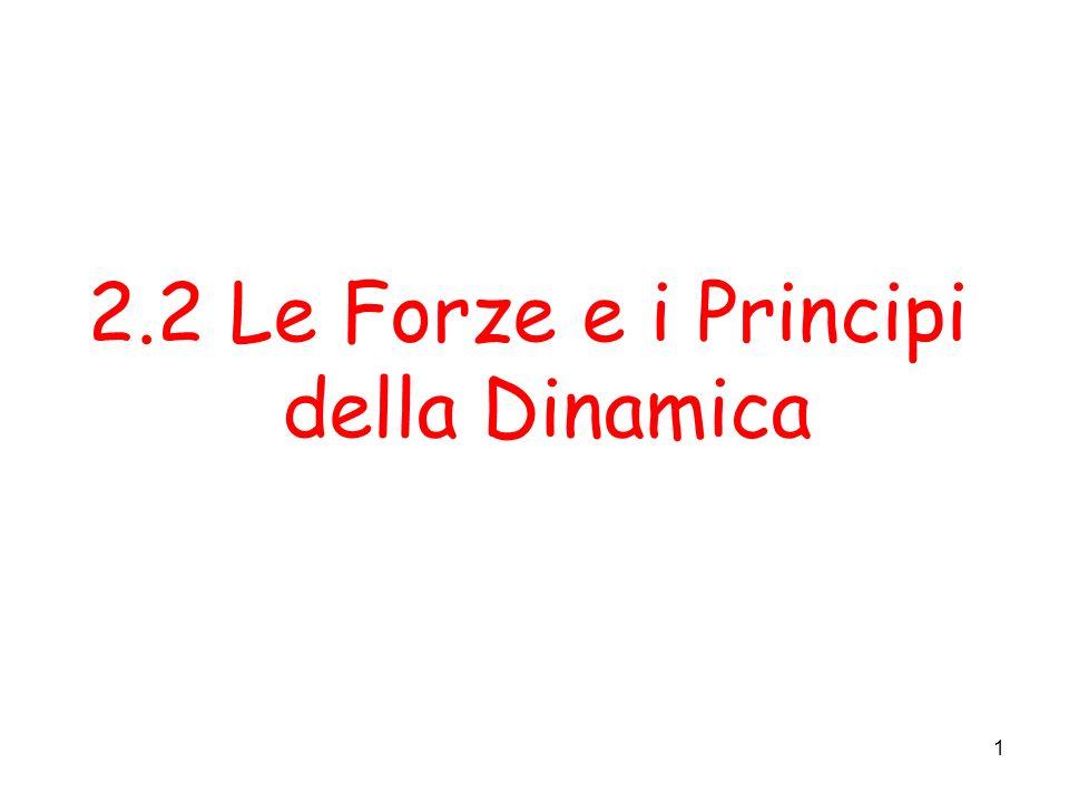 2.2 Le Forze e i Principi della Dinamica