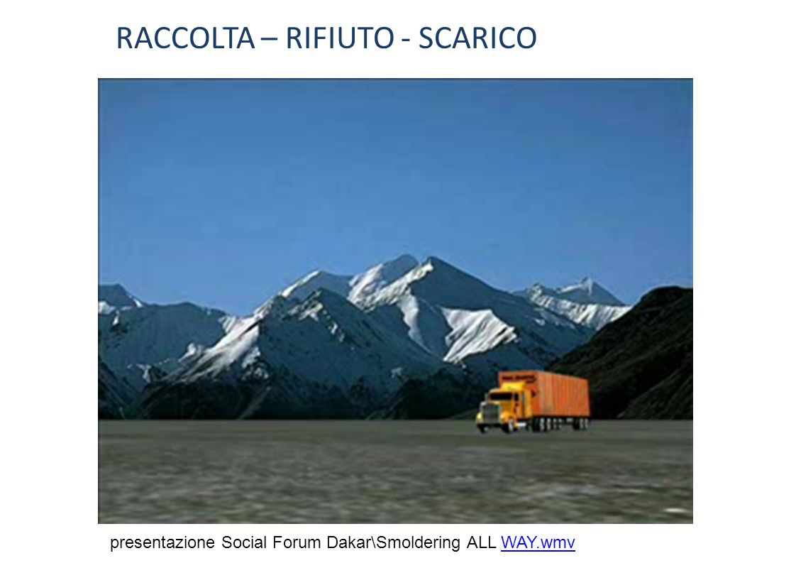RACCOLTA – RIFIUTO - SCARICO