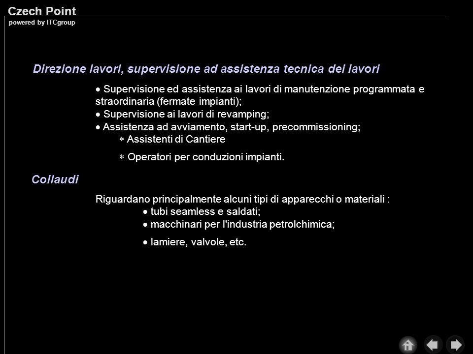 Direzione lavori, supervisione ad assistenza tecnica dei lavori