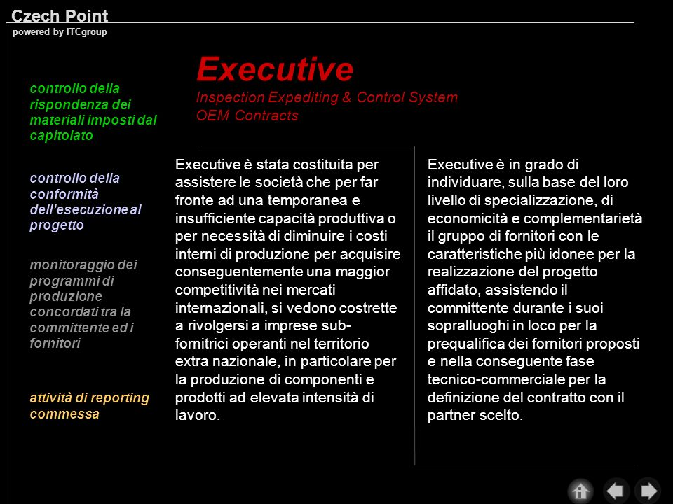 Executive Inspection Expediting & Control System OEM Contracts