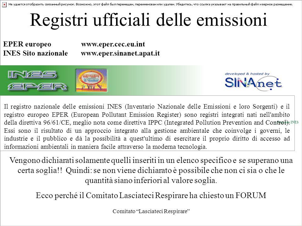 Registri ufficiali delle emissioni
