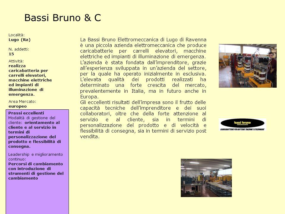 Bassi Bruno & C Località: Lugo (Ra) N. addetti: 15. Attività:
