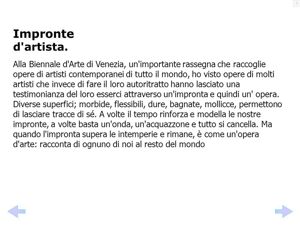 Impronte d artista.