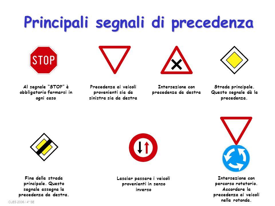 Principali segnali di precedenza