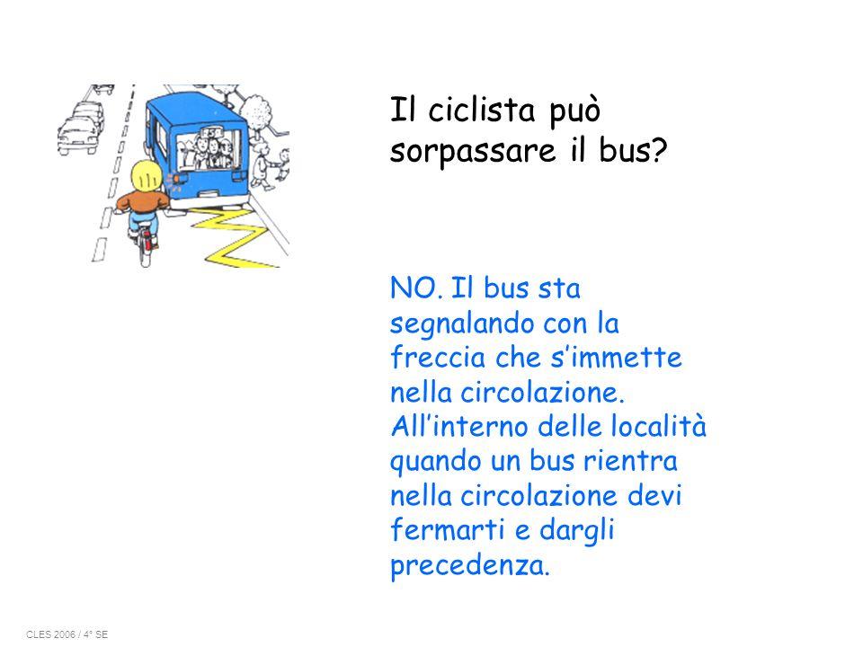 Il ciclista può sorpassare il bus
