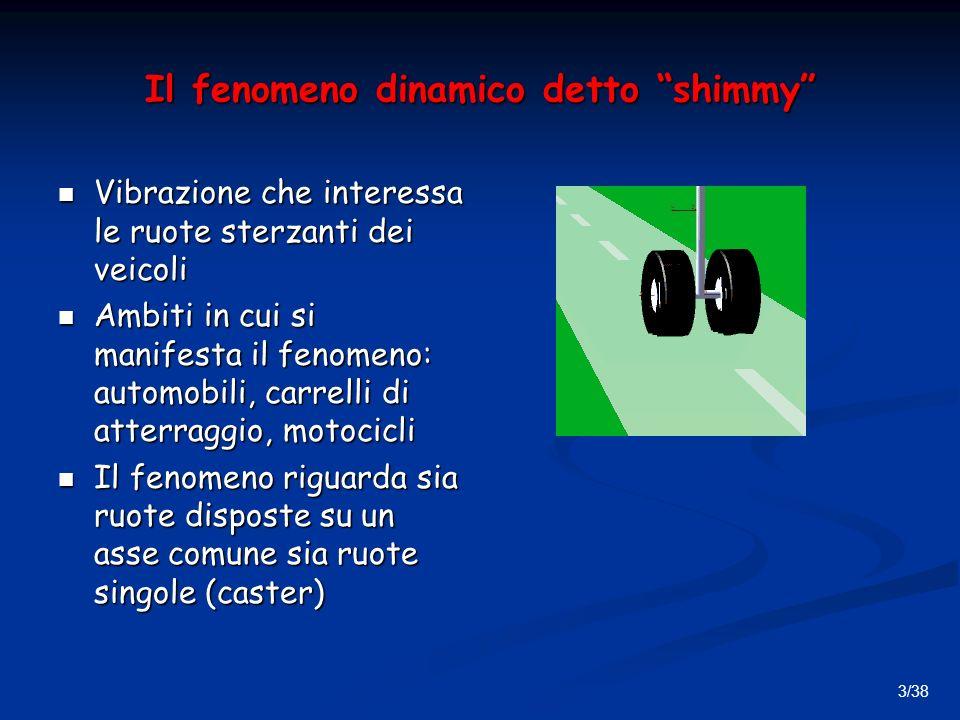 Il fenomeno dinamico detto shimmy