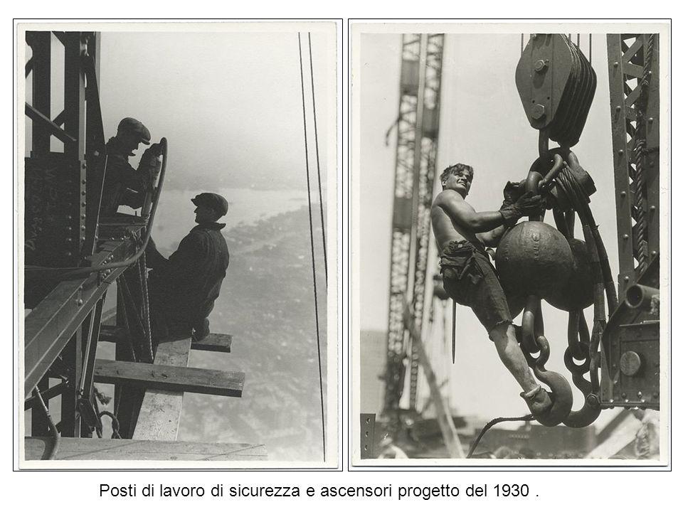 Posti di lavoro di sicurezza e ascensori progetto del 1930 .
