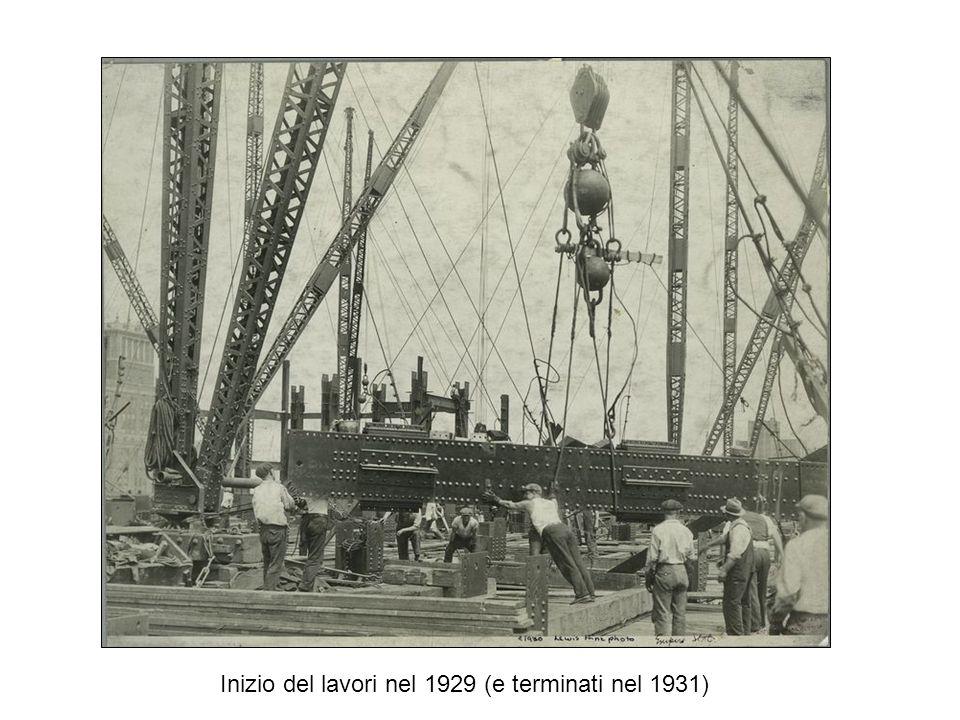 Inizio del lavori nel 1929 (e terminati nel 1931)