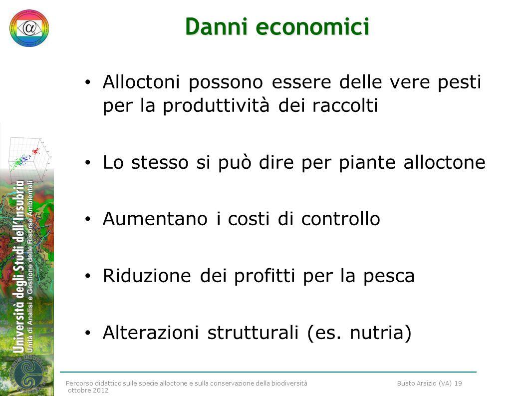 Danni economiciAlloctoni possono essere delle vere pesti per la produttività dei raccolti. Lo stesso si può dire per piante alloctone.
