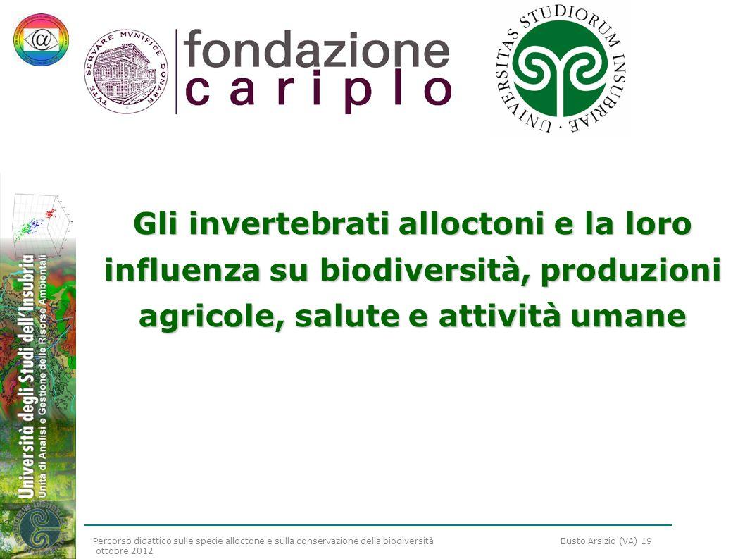 Gli invertebrati alloctoni e la loro influenza su biodiversità, produzioni agricole, salute e attività umane