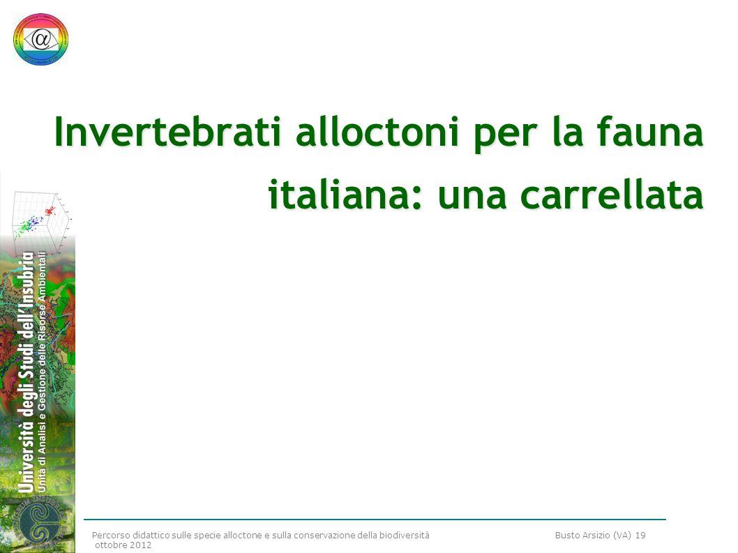 Invertebrati alloctoni per la fauna italiana: una carrellata