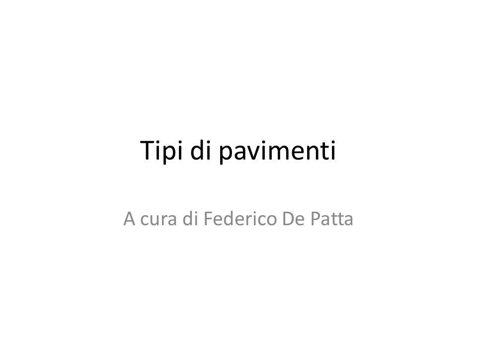 A cura di Federico De Patta