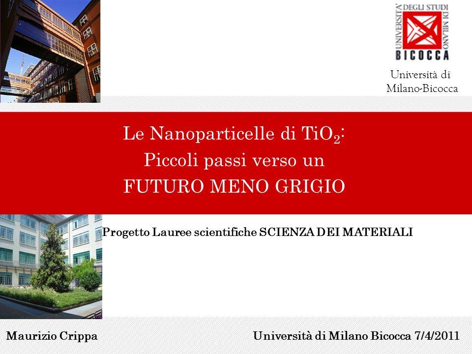 Le Nanoparticelle di TiO2: