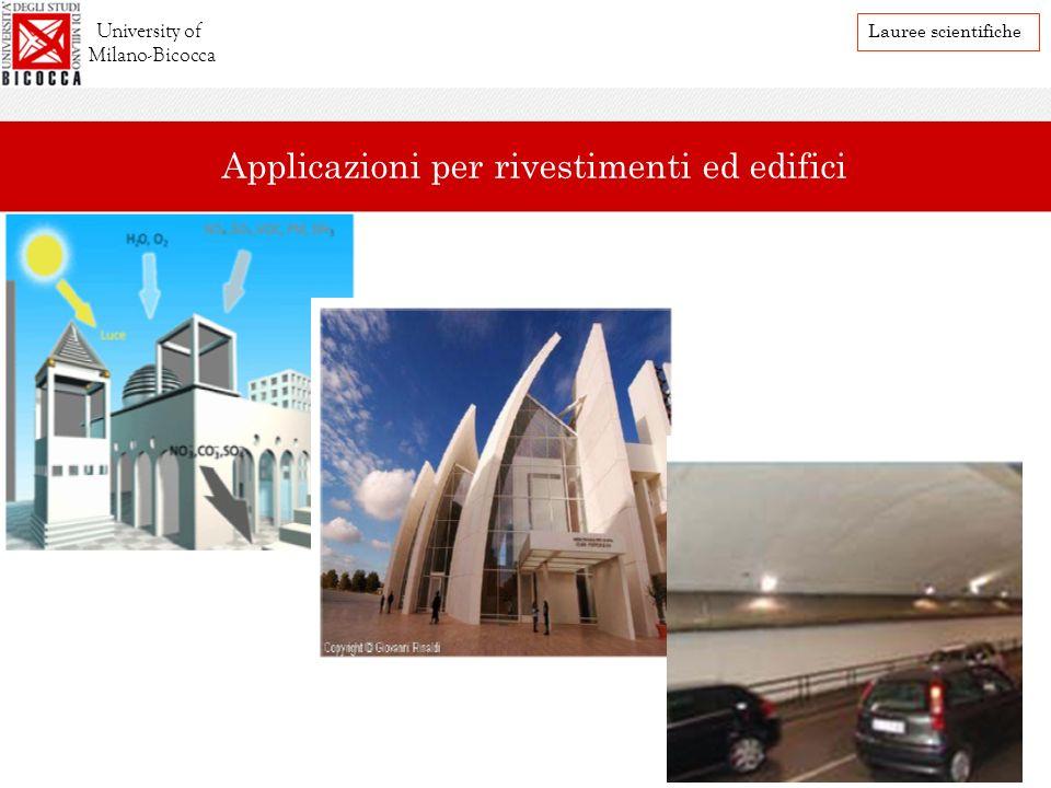Applicazioni per rivestimenti ed edifici