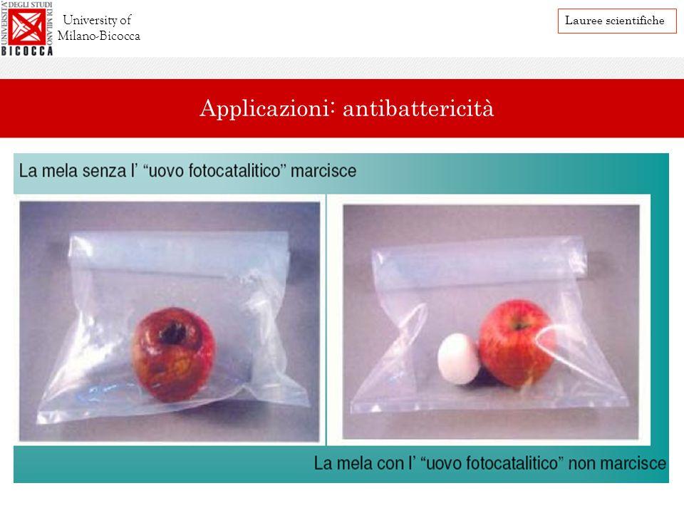 Applicazioni: antibattericità