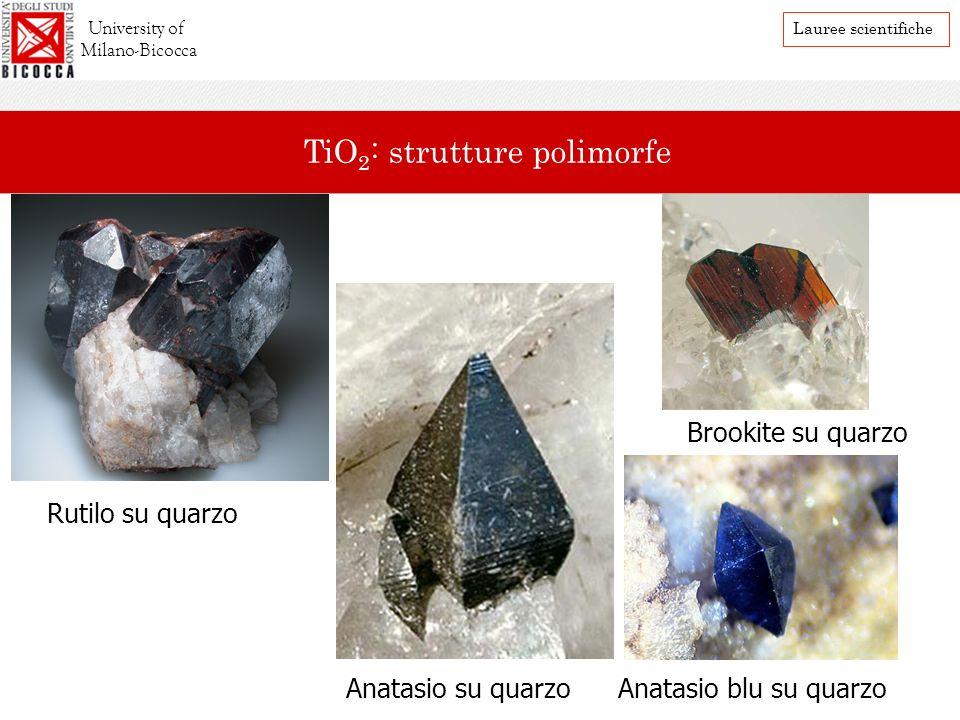 TiO2: strutture polimorfe