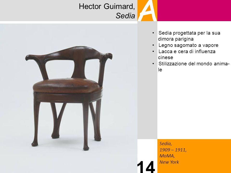 A 14 Hector Guimard, Sedia Sedia progettata per la sua dimora parigina