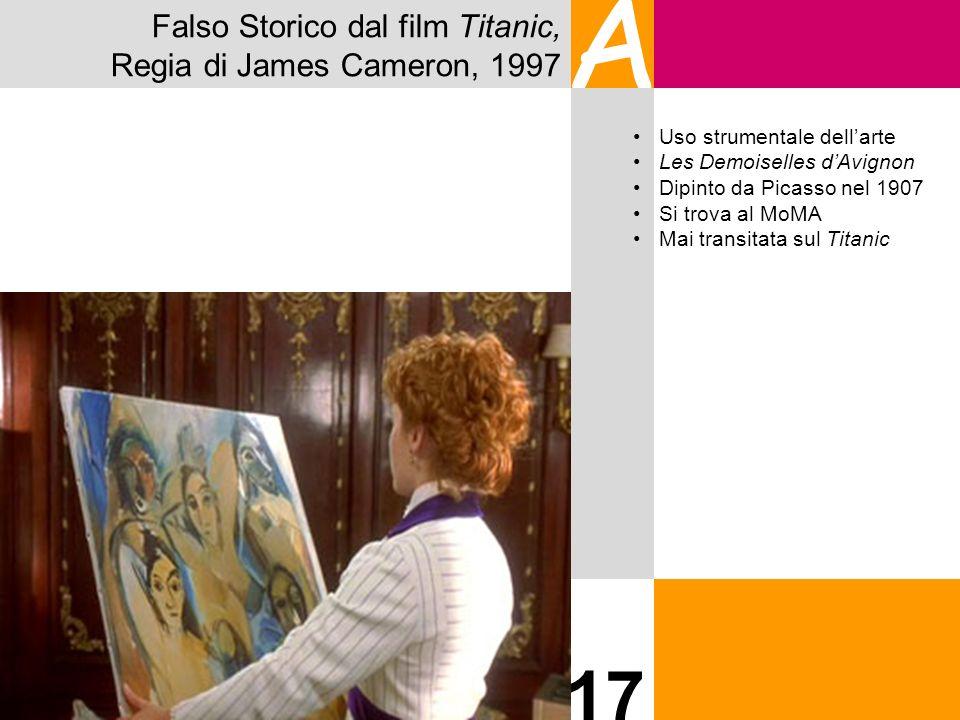A 17 Falso Storico dal film Titanic, Regia di James Cameron, 1997