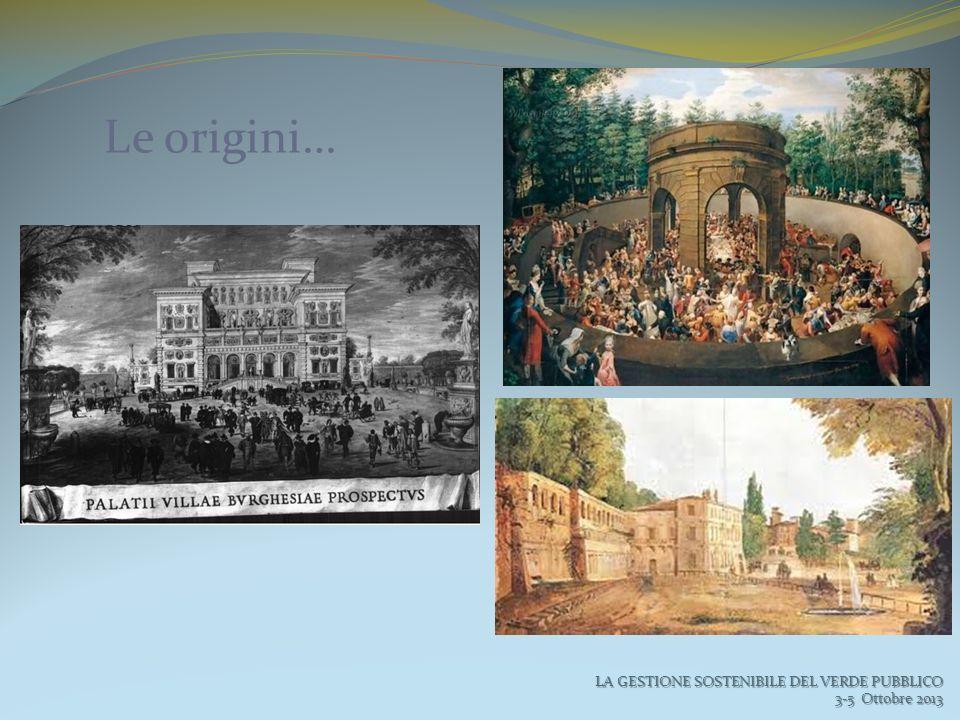 Le origini… LA GESTIONE SOSTENIBILE DEL VERDE PUBBLICO