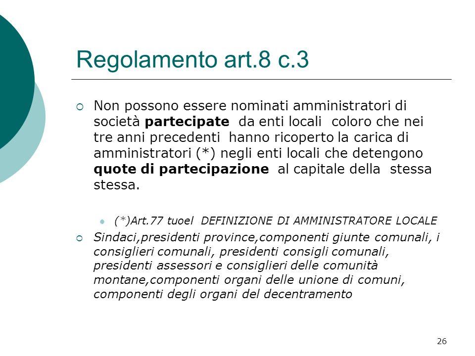 Regolamento art.8 c.3