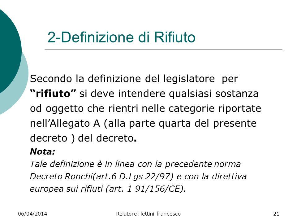2-Definizione di Rifiuto