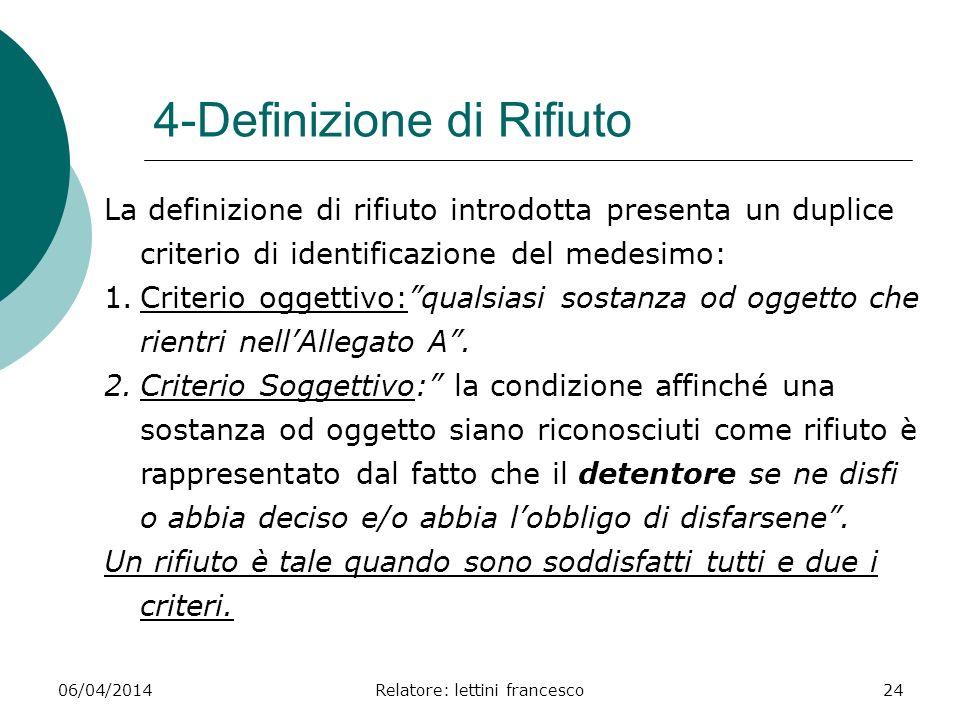 4-Definizione di Rifiuto