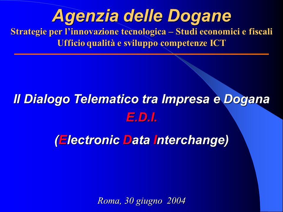 Agenzia delle Dogane Strategie per l'innovazione tecnologica – Studi economici e fiscali Ufficio qualità e sviluppo competenze ICT