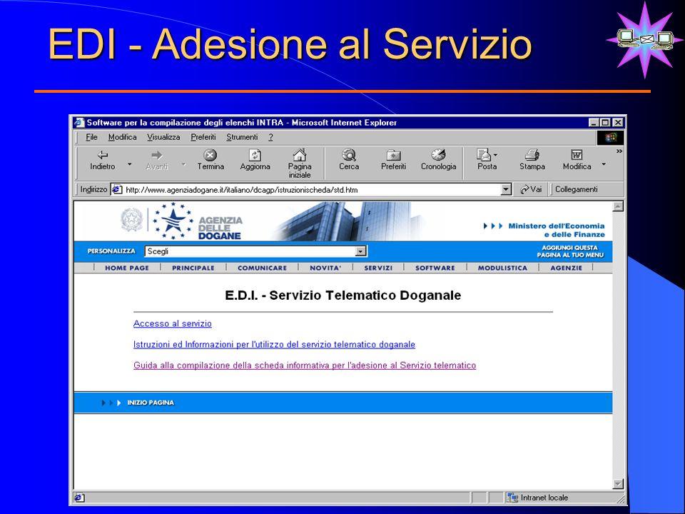 EDI - Adesione al Servizio