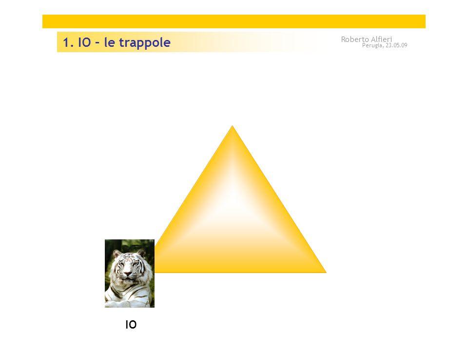 1. IO – le trappole Roberto Alfieri Perugia, 23.05.09 IO