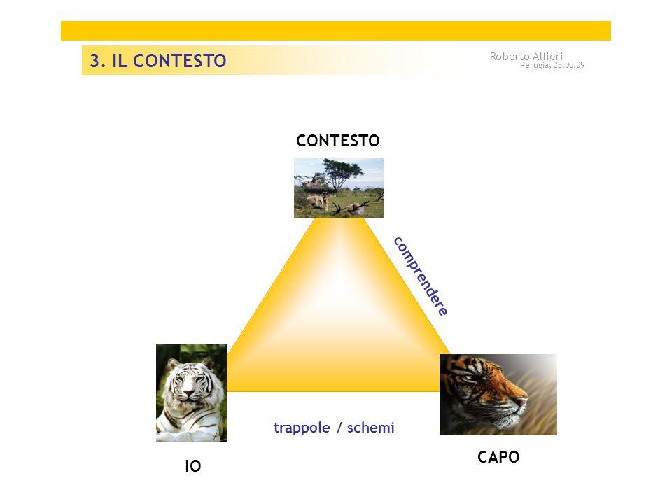 A 3. IL CONTESTO CONTESTO A CAPO IO comprendere trappole / schemi