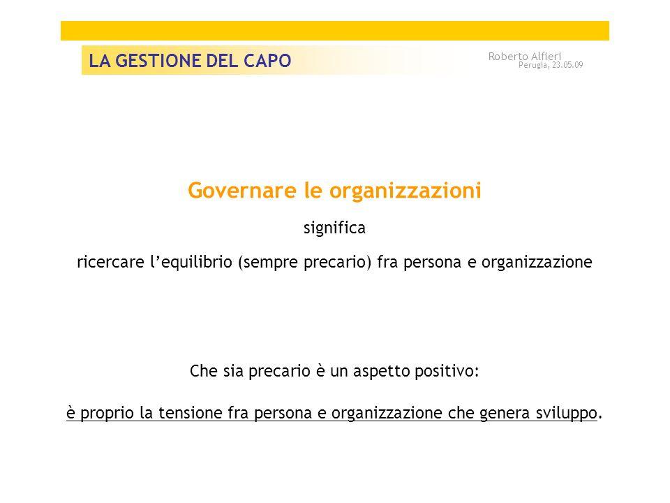 Governare le organizzazioni