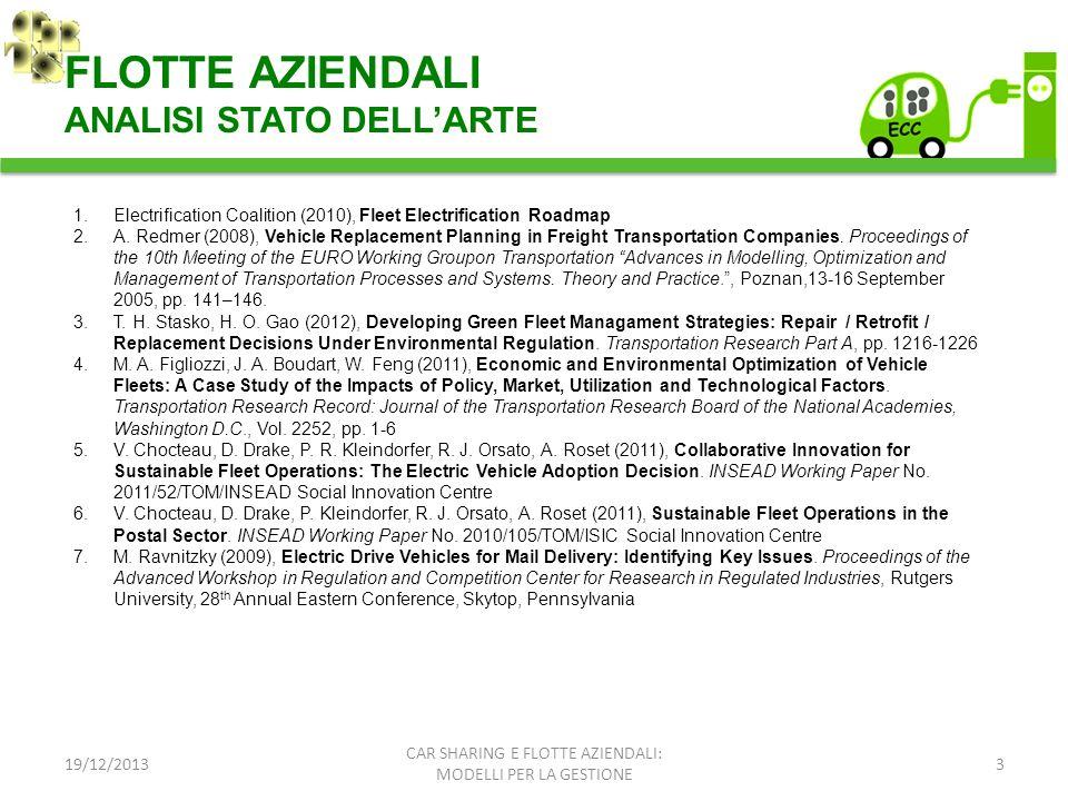 FLOTTE AZIENDALI ANALISI STATO DELL'ARTE
