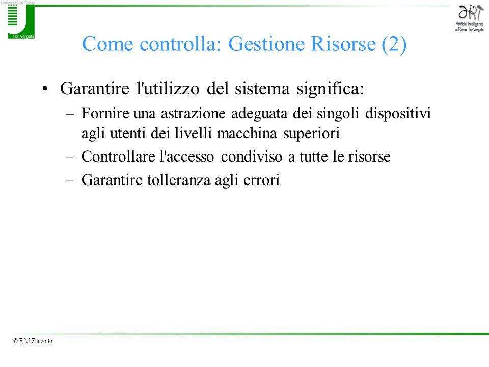 Come controlla: Gestione Risorse (2)