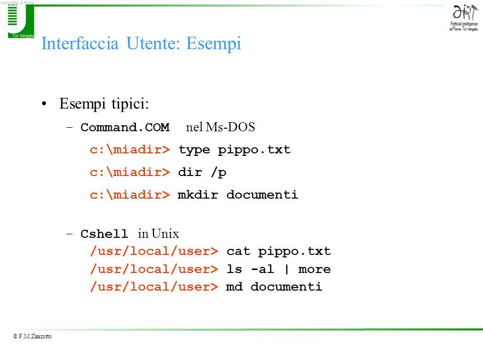 Interfaccia Utente: Esempi
